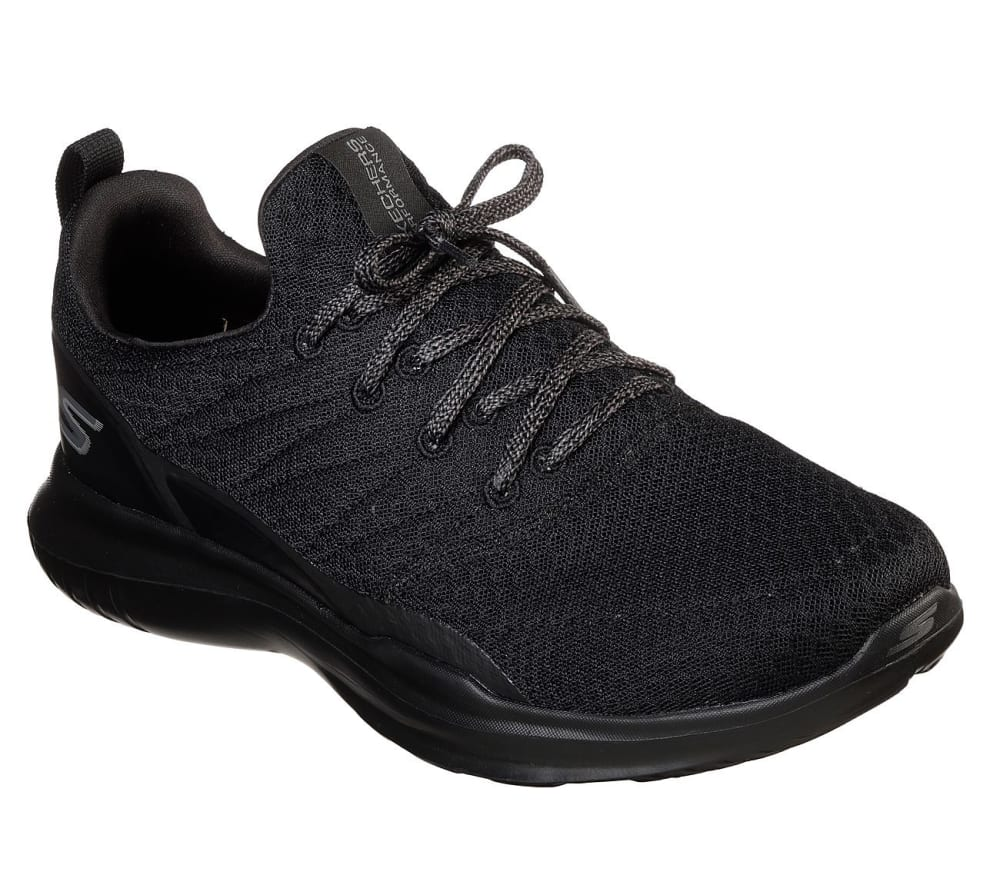 SKECHERS Men's GoRUN Mojo – Radar Walking Shoes - BLACK/BLACK -BBK