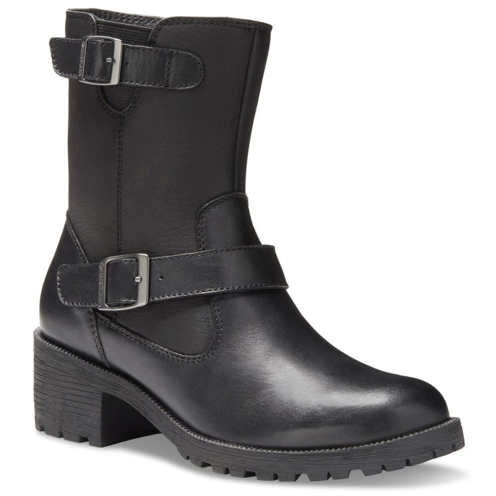 EASTLAND Women's Belmont Ankle Boots - BLACK LEATHER-01