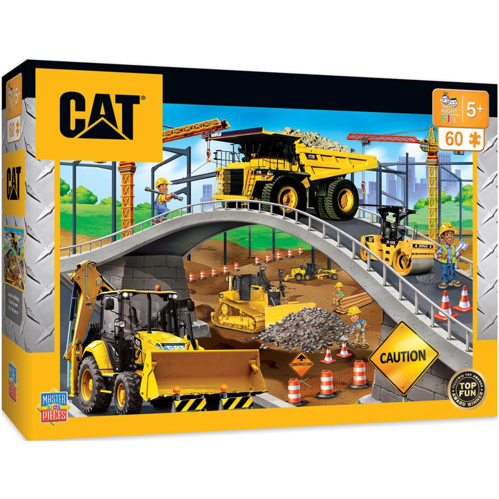 CATERPILLAR Kids' Under The Bridge Right Fit - Construction Trucks 60-Piece Puzzle - NO COLOR