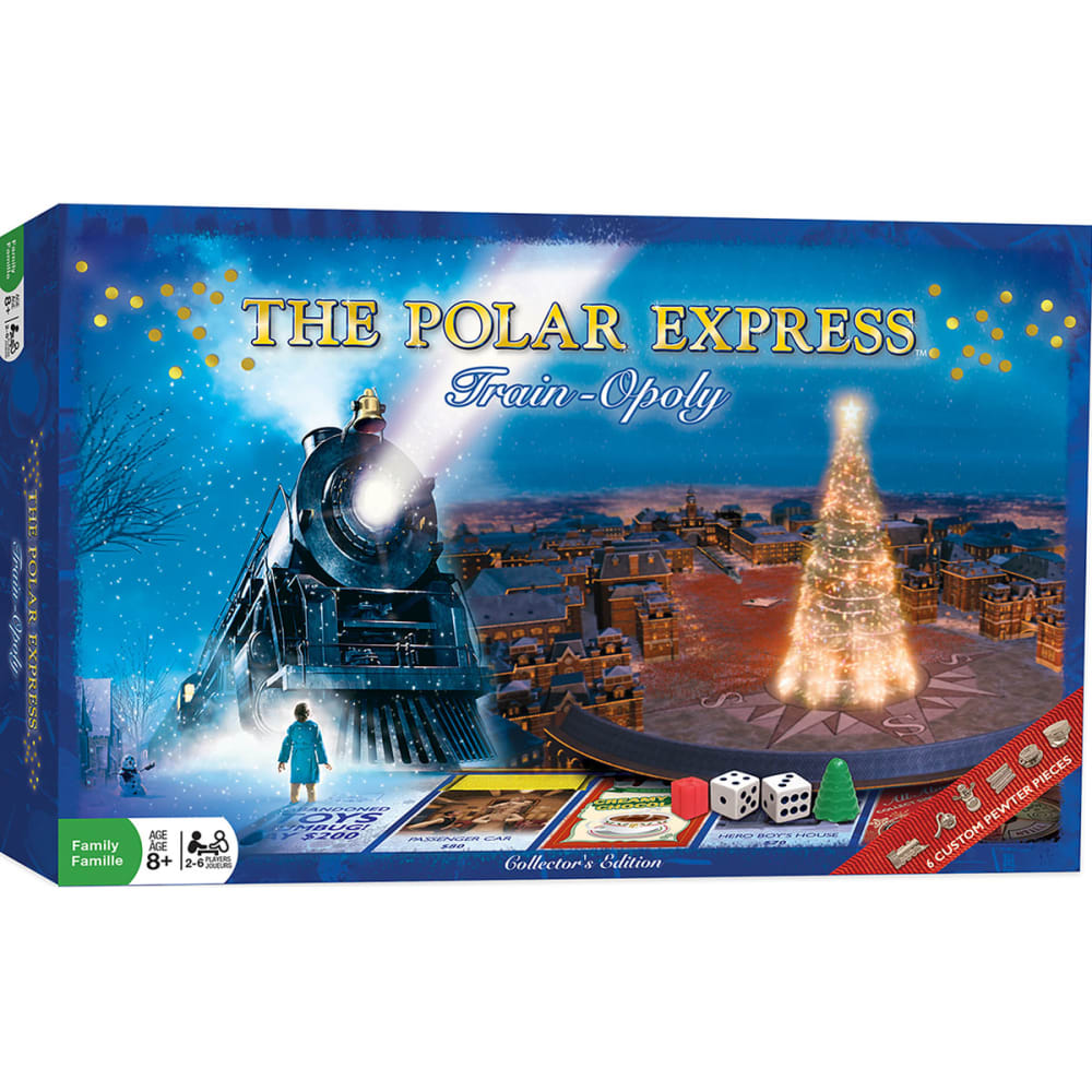 MASTERPIECES The Polar Express Opoly Board Game - NO COLOR