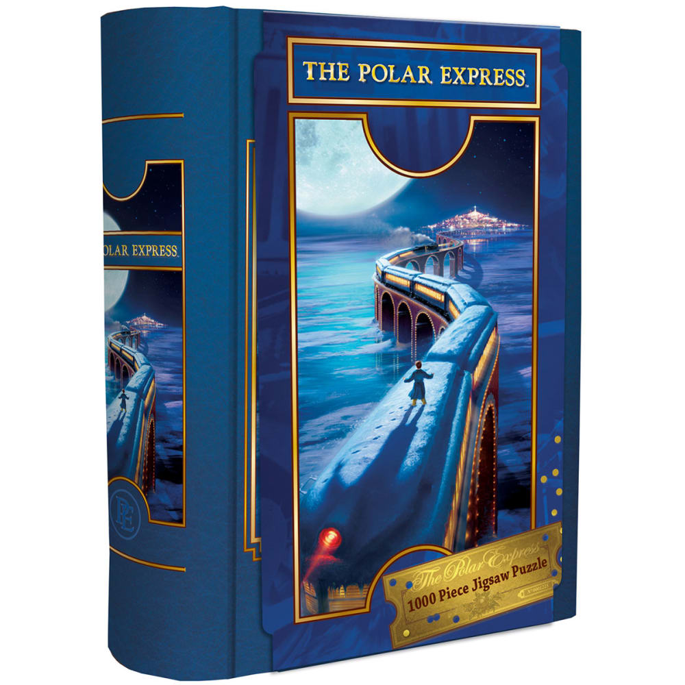MASTERPIECES The Polar Express Book Box - 1000 Piece Jigsaw Puzzle - NO COLOR