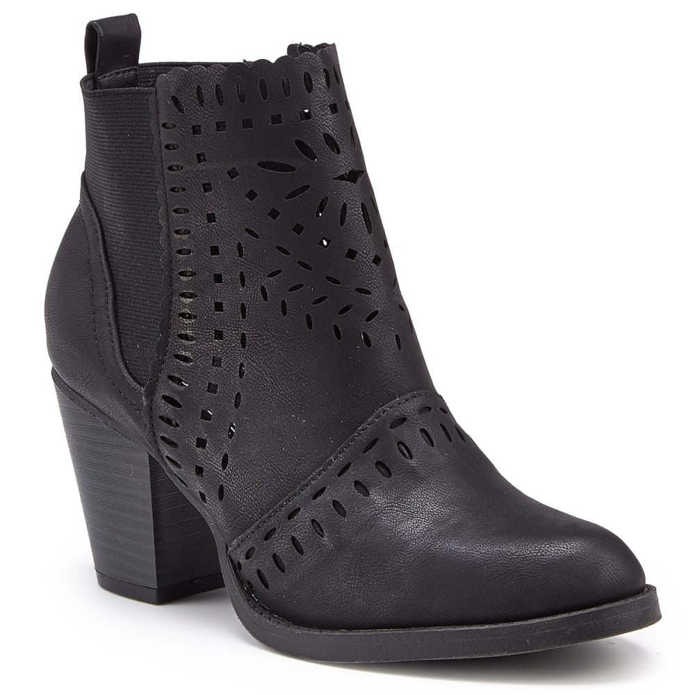 RAMPAGE Women's Echer Cutout Booties - BLACK