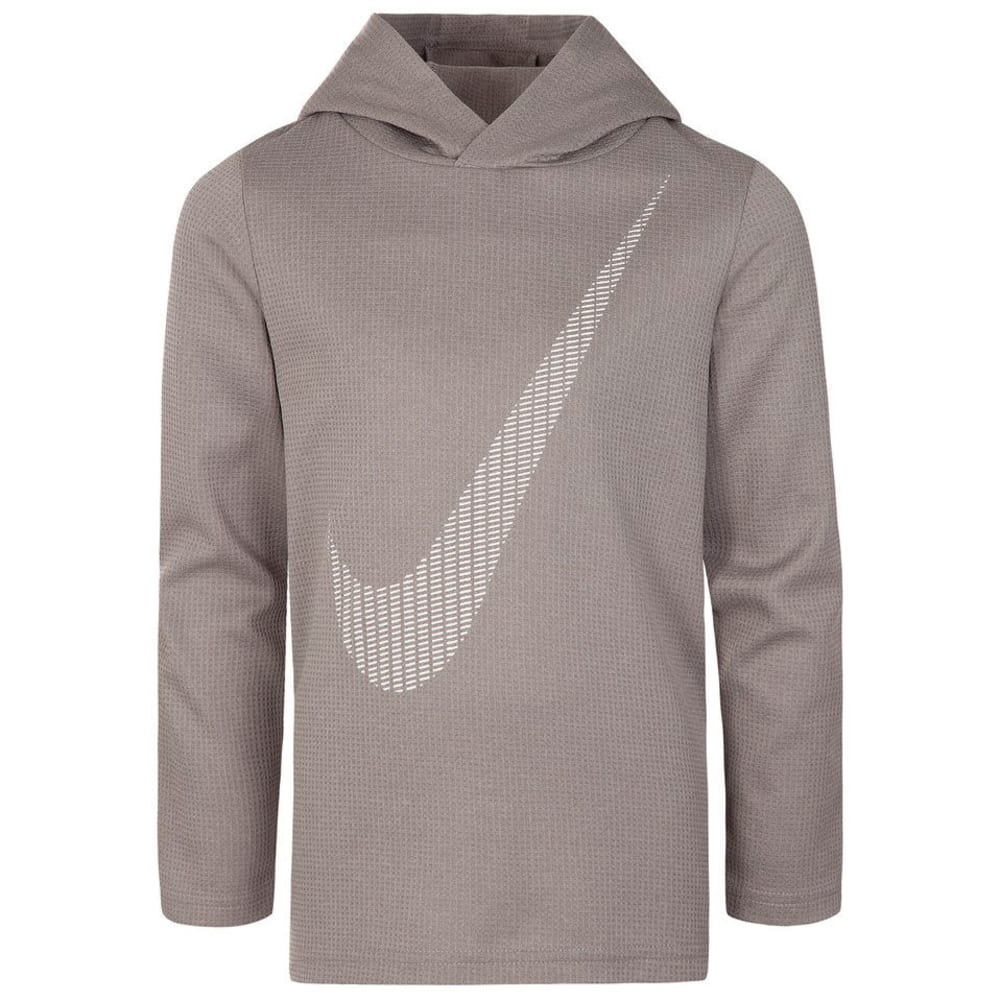 NIKE Big Boys' Swoosh Dri-FIT Thermal Pullover - DK GRY/B CRIMSON-G1A
