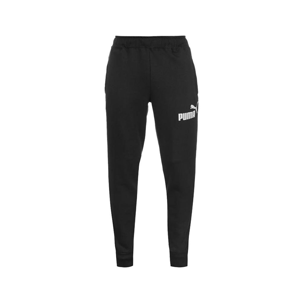 PUMA Men's Tapered Fleece Pants - BLACK/WHITE-85242801