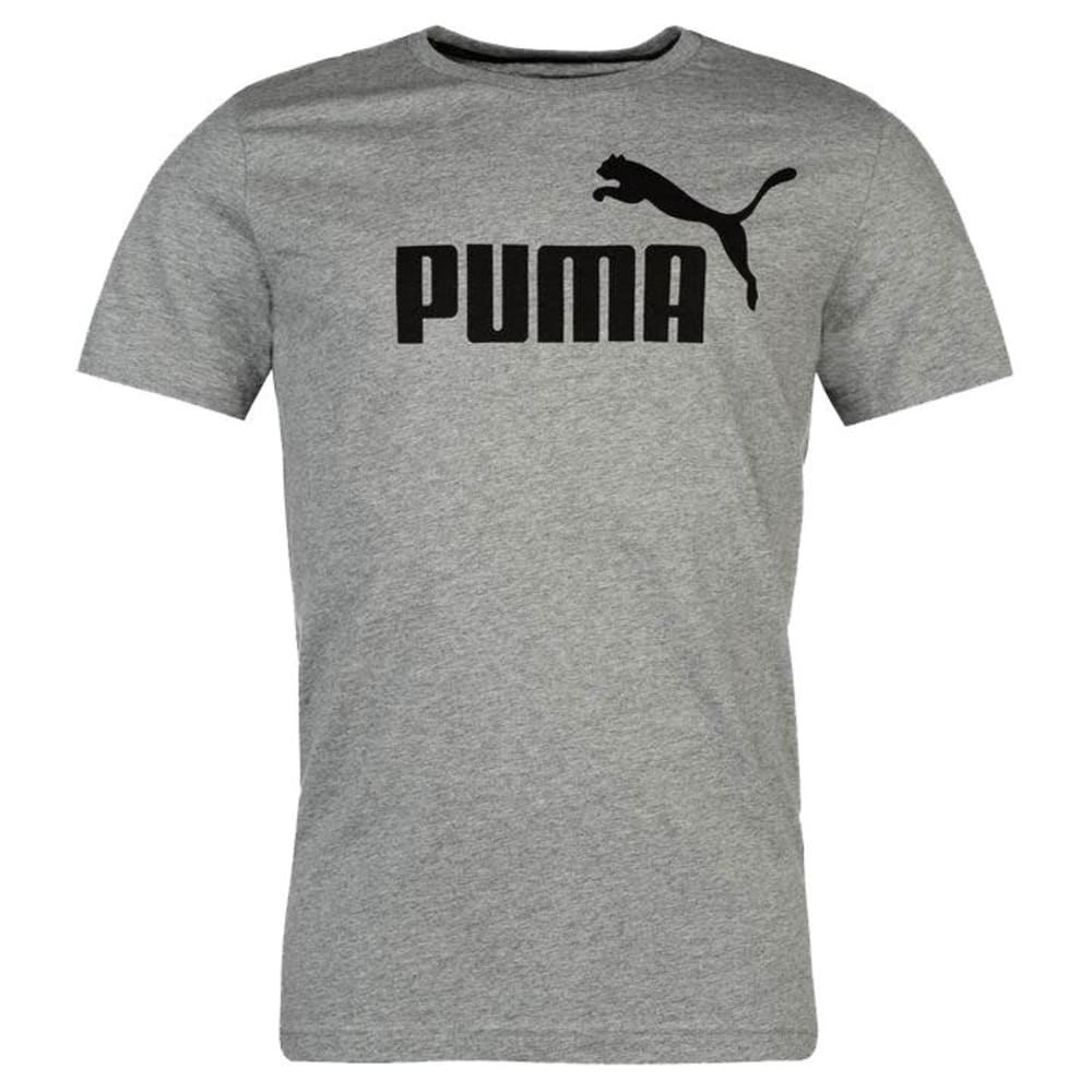 PUMA Men's Essentials No. 1 Logo Short-Sleeve Tee - MED GREY-85174003