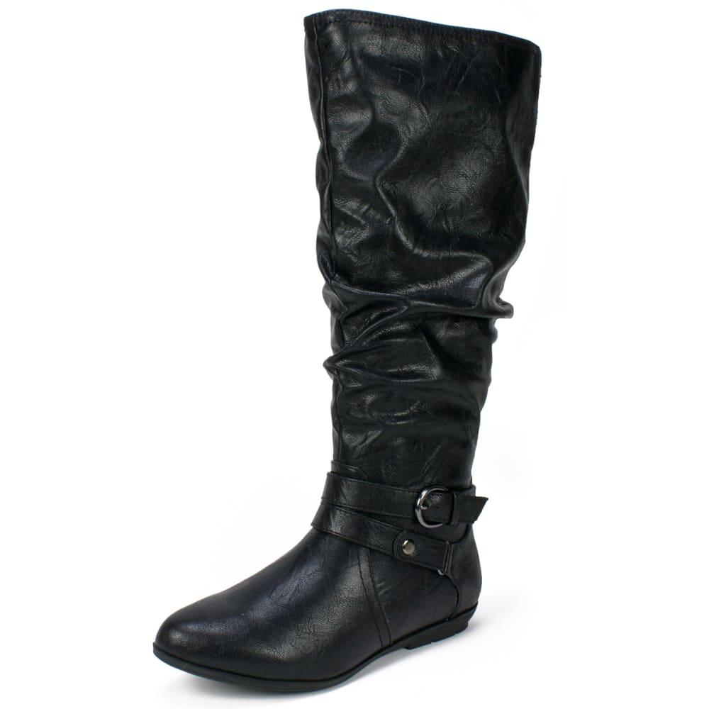 CLIFFS Women's Fiori Black Tall Boots, Wide - BLACK-081