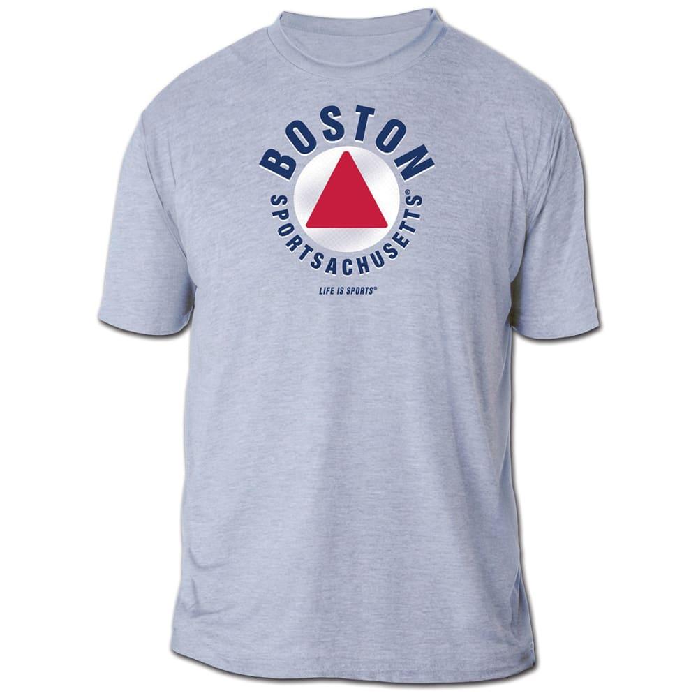 LIFE IS SPORTS Men's Boston Sportsachusetts Short-Sleeve Tee - GREY
