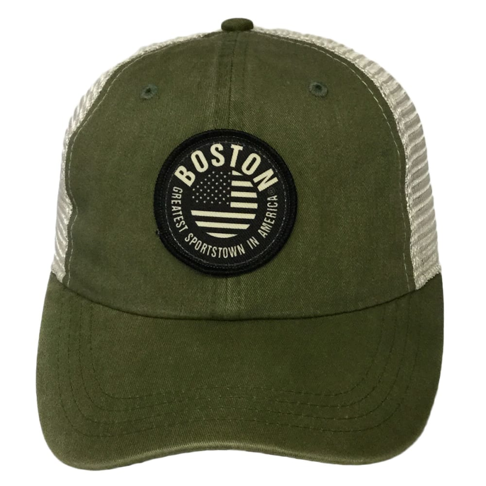 LIFE IS SPORTS Men's Boston Greatest Sportstown in America Cap - WASHED OLIVE