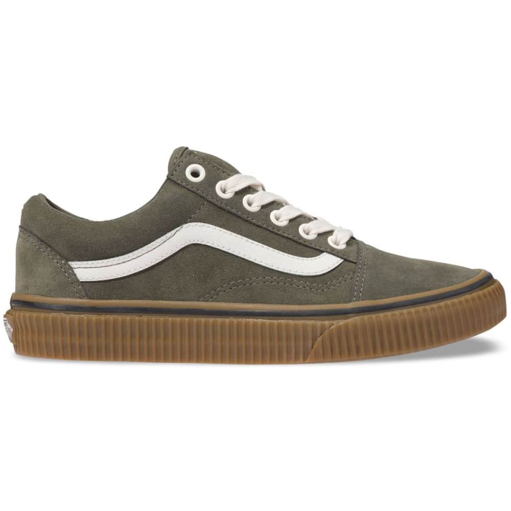 Vans Unisex Old Skool Embossed Gum Skate Shoes - Green, 7.5