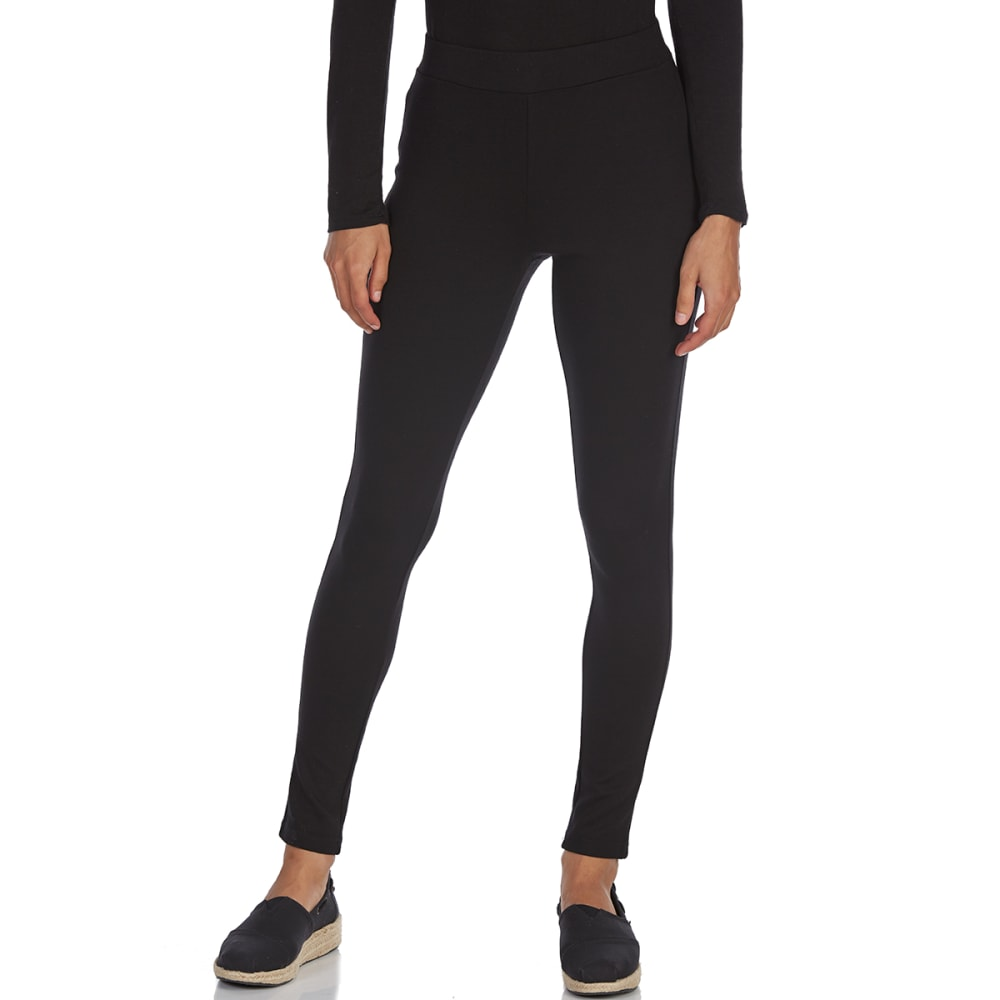 ALMOST FAMOUS Juniors' Solid Ponte Booty Boost Jeggings - BLACK