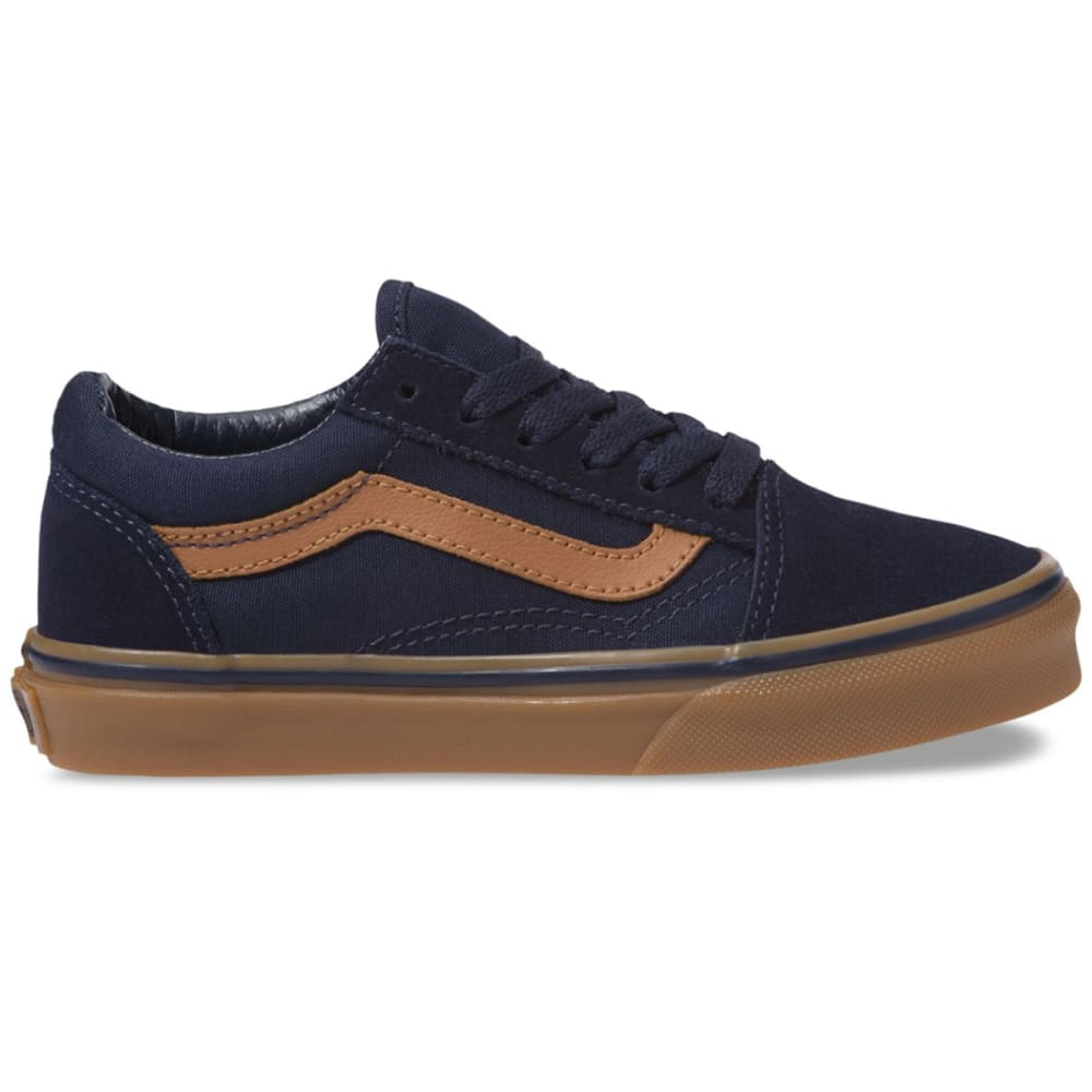 Vans Boys' Old Skool Suede Skate Shoes - Blue, 1