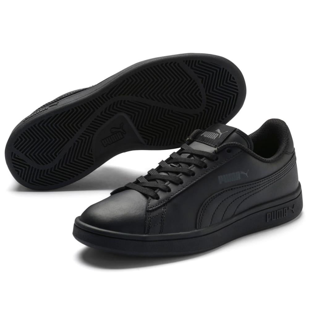 Puma Boys' Smash V2 L Jr Sneakers - Black, 4