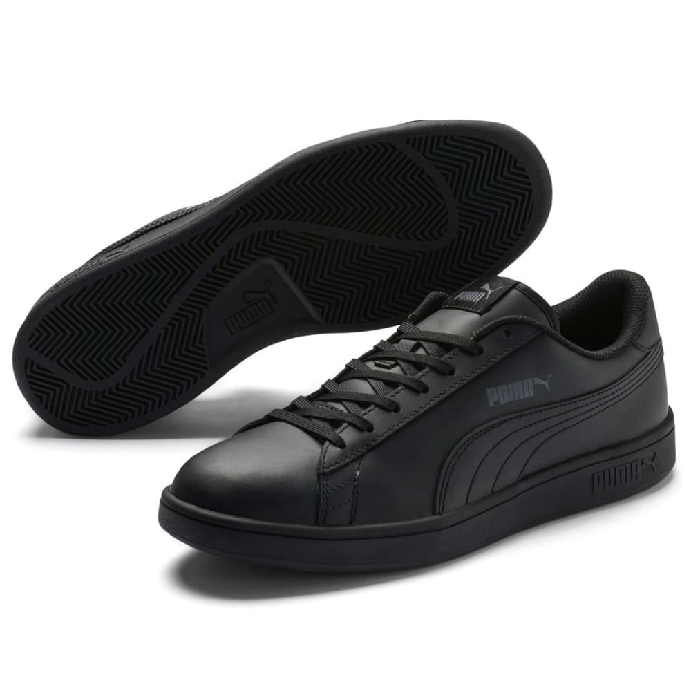 Puma Men's Smash V2 Leather Sneakers - Black, 8