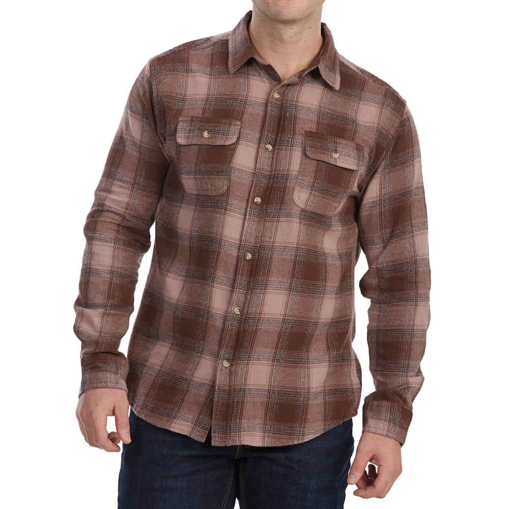FREE NATURE Guys' Yarn-Dyed Long-Sleeve Flannel Shirt S