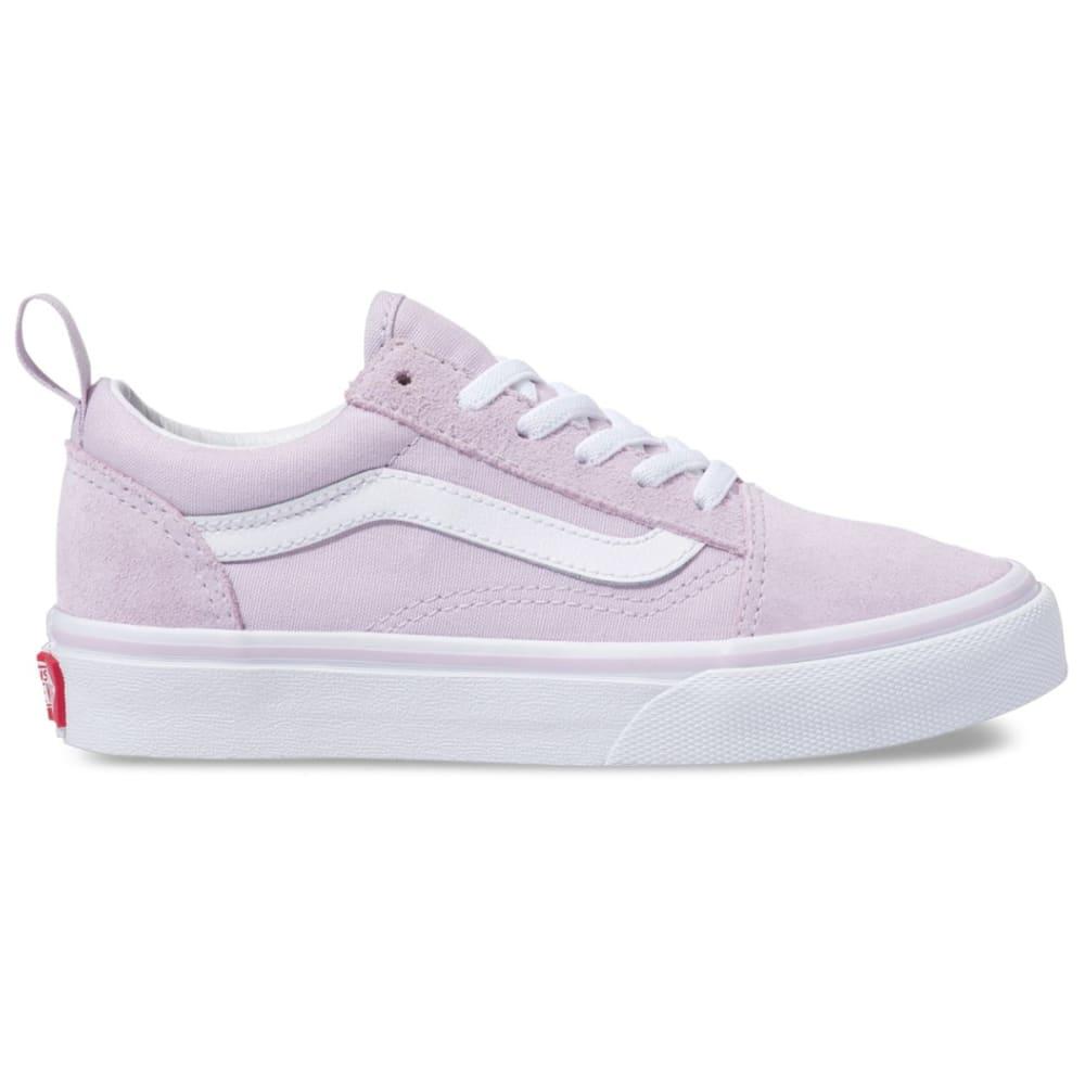 VANS Kids' Old Skool Elastic Lace Skate Shoes - LAVENDER FOG