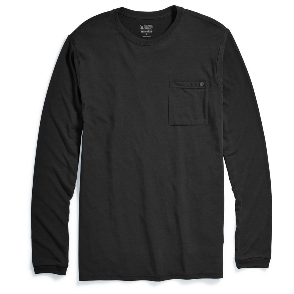 Ems(R) Men's Techwick(R) Vital Pocket Long-Sleeve Tee - Black, M