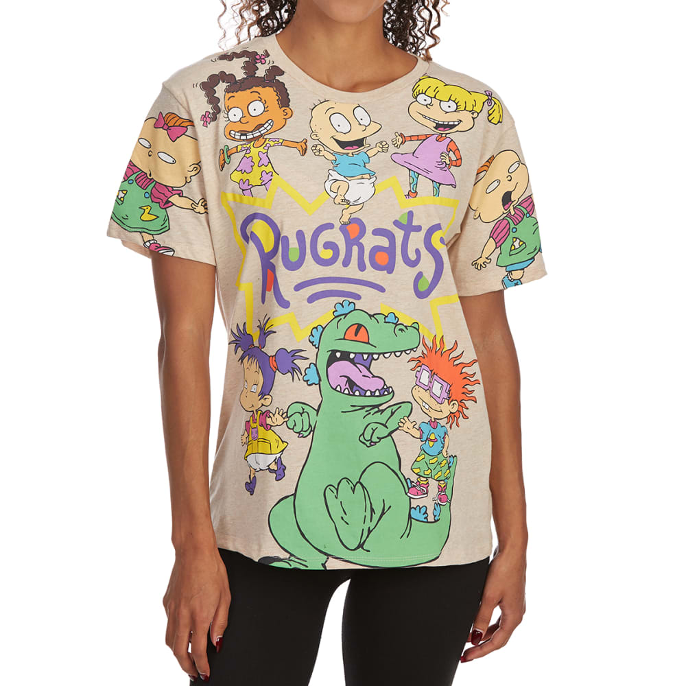 FREEZE Juniors' Rugrats Printed Wing Short-Sleeve Tee - OATMEAL