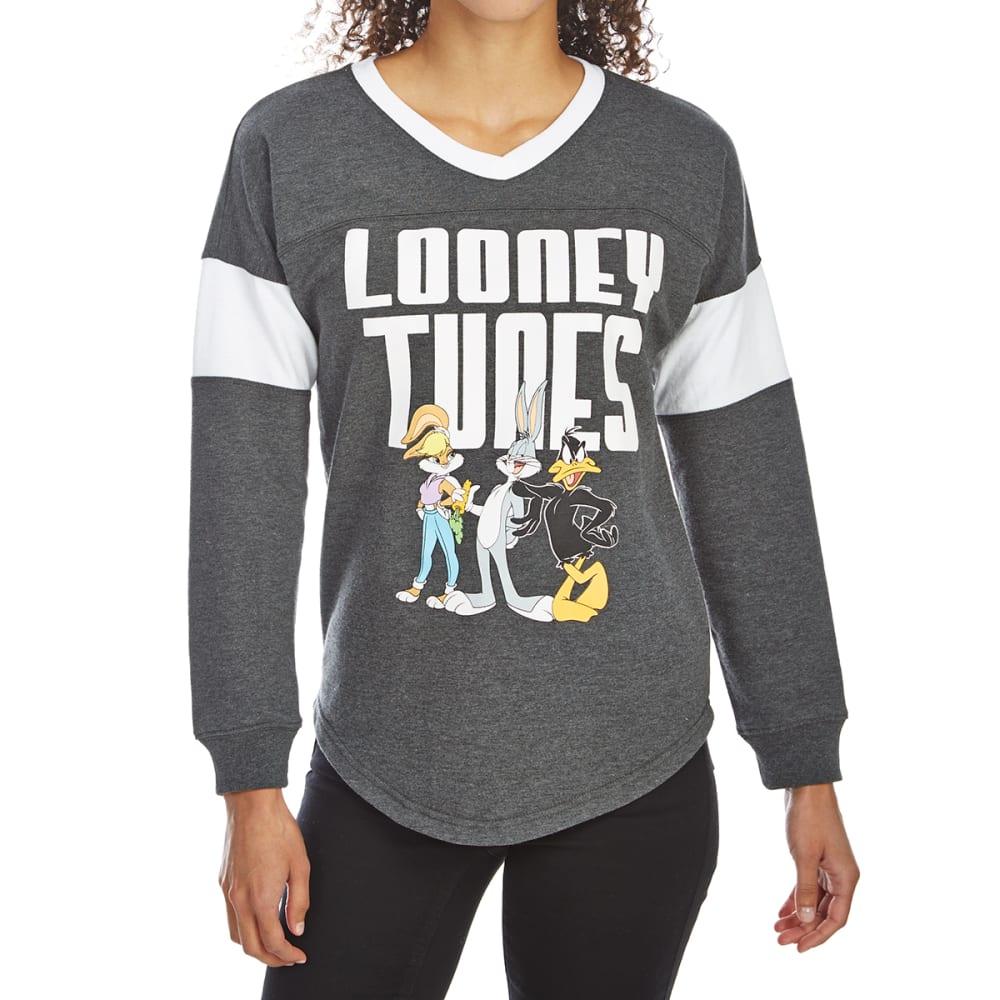 FREEZE Juniors' Looney Tunes V-Neck Fleece Pullover S