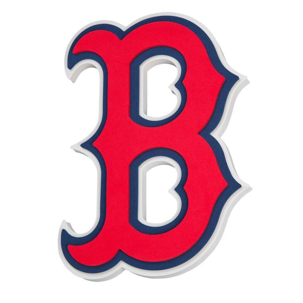BOSTON RED SOX 3D Foam Wall Sign - RED