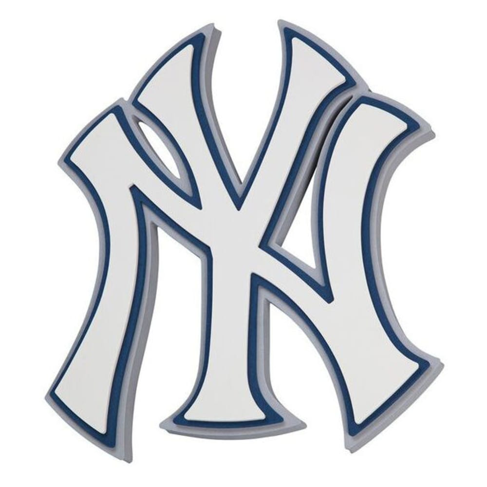 NEW YORK YANKEES 3D Foam Wall Sign - WHITE