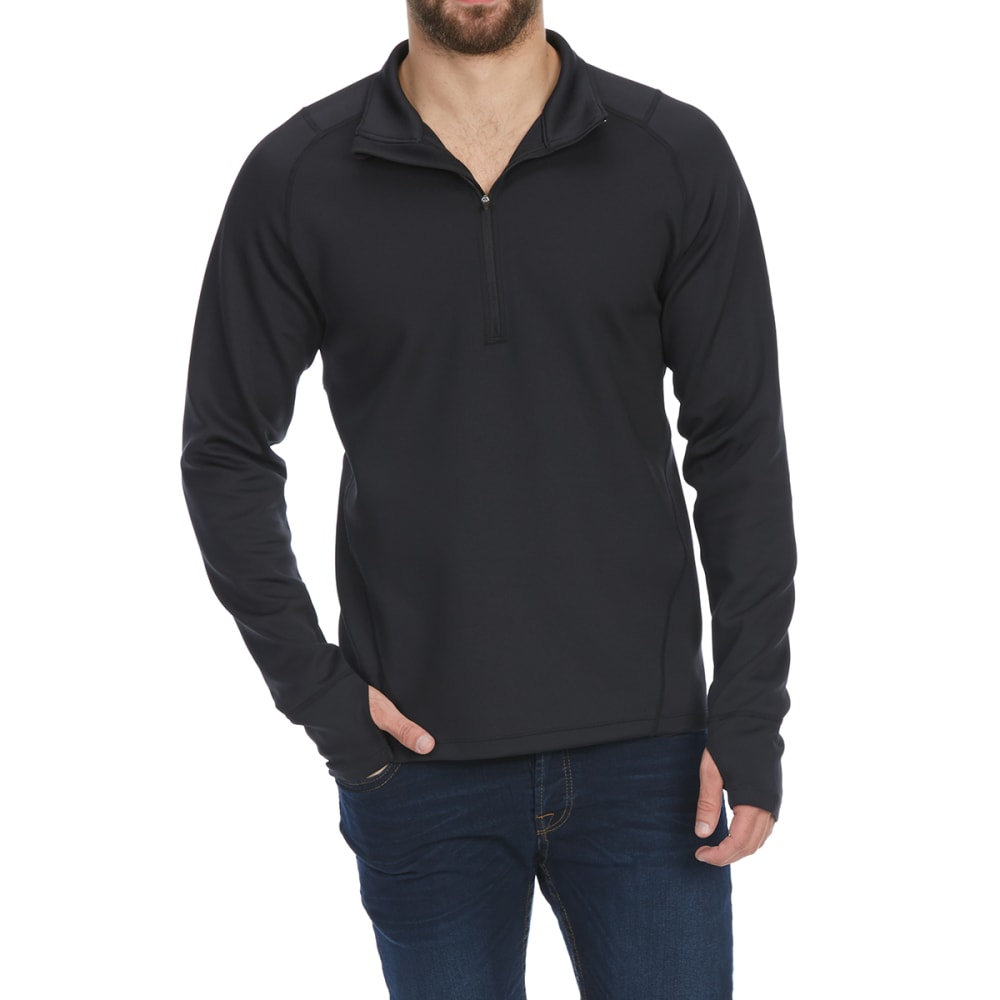 Ems Men's Techwick Heavyweight 1/4-Zip Base Layer Top - Black, S