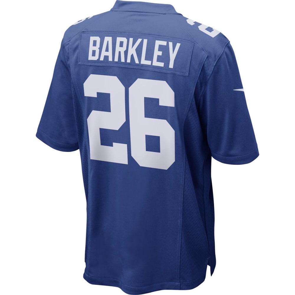 NIKE Men's New York Giants Saquon Barkley Short-Sleeve Game Jersey S