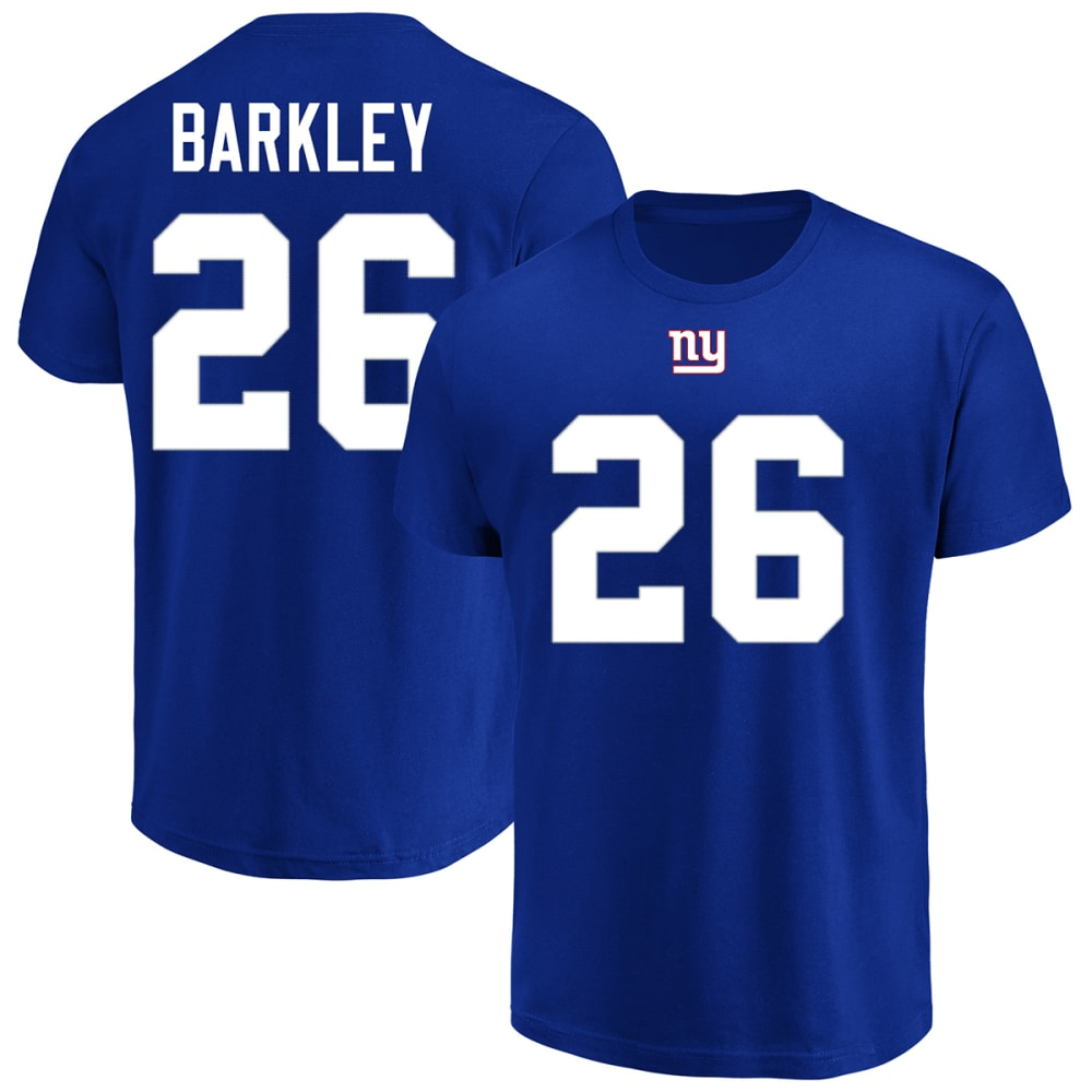 NEW YORK GIANTS Men's Saquon Barkley #26 Name and Number Short-Sleeve Tee - ROYAL BLUE