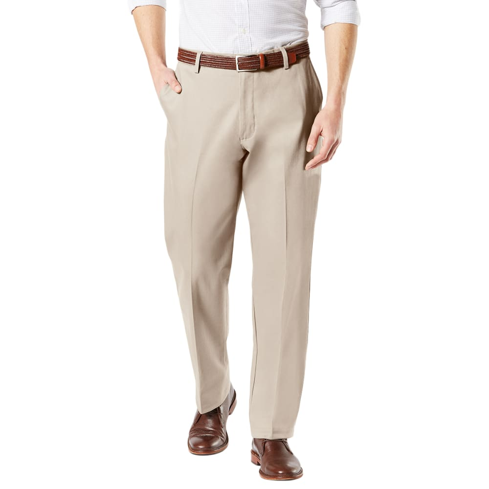 DOCKERS Men's Classic Fit Signature Khaki 2.0 Flat-Front Stretch Crease Pants - CLOUD 0000