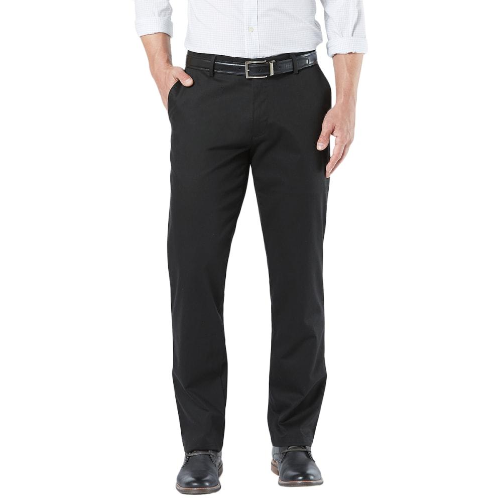 DOCKERS Men's Signature Khaki 2.0 Straight Flat-Front Creaseless Pants - BLACK  0004