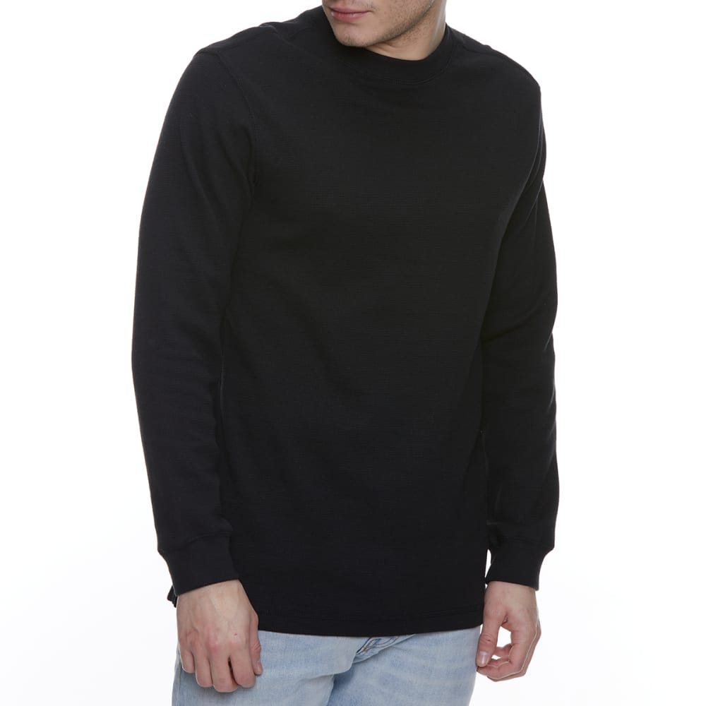 GELERT Men's Thermal Crew Long-Sleeve Shirt - BLACK