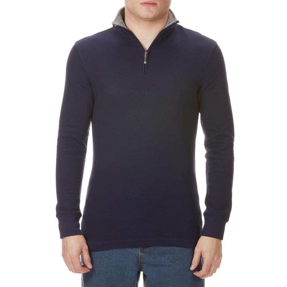 GELERT Men's French Rib 1/4 Zip Knit Pullover L