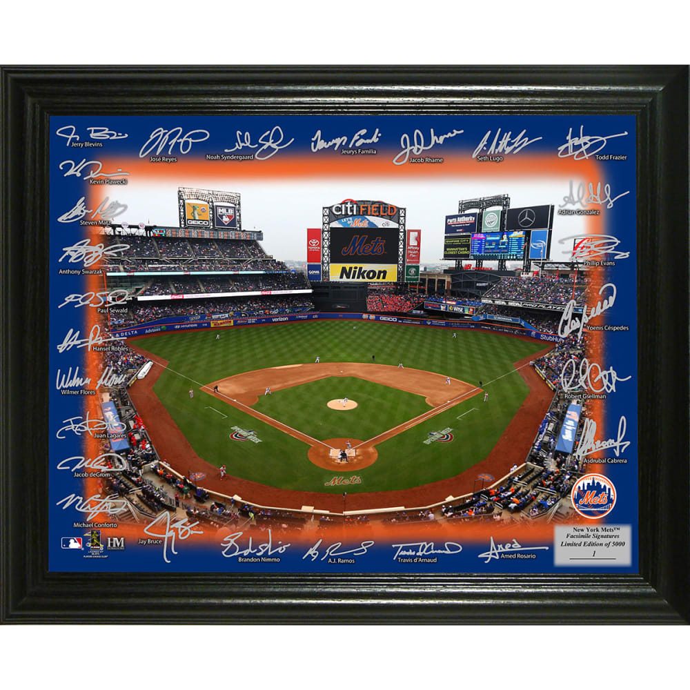 NEW YORK METS 2018 Signature Field Photo - NO COLOR