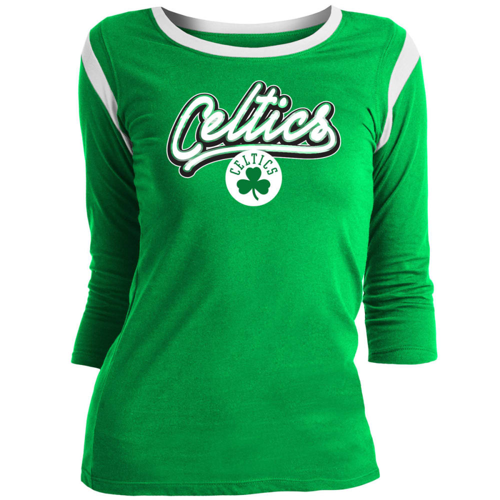 BOSTON CELTICS Women's Long-Sleeve Tee - GREEN