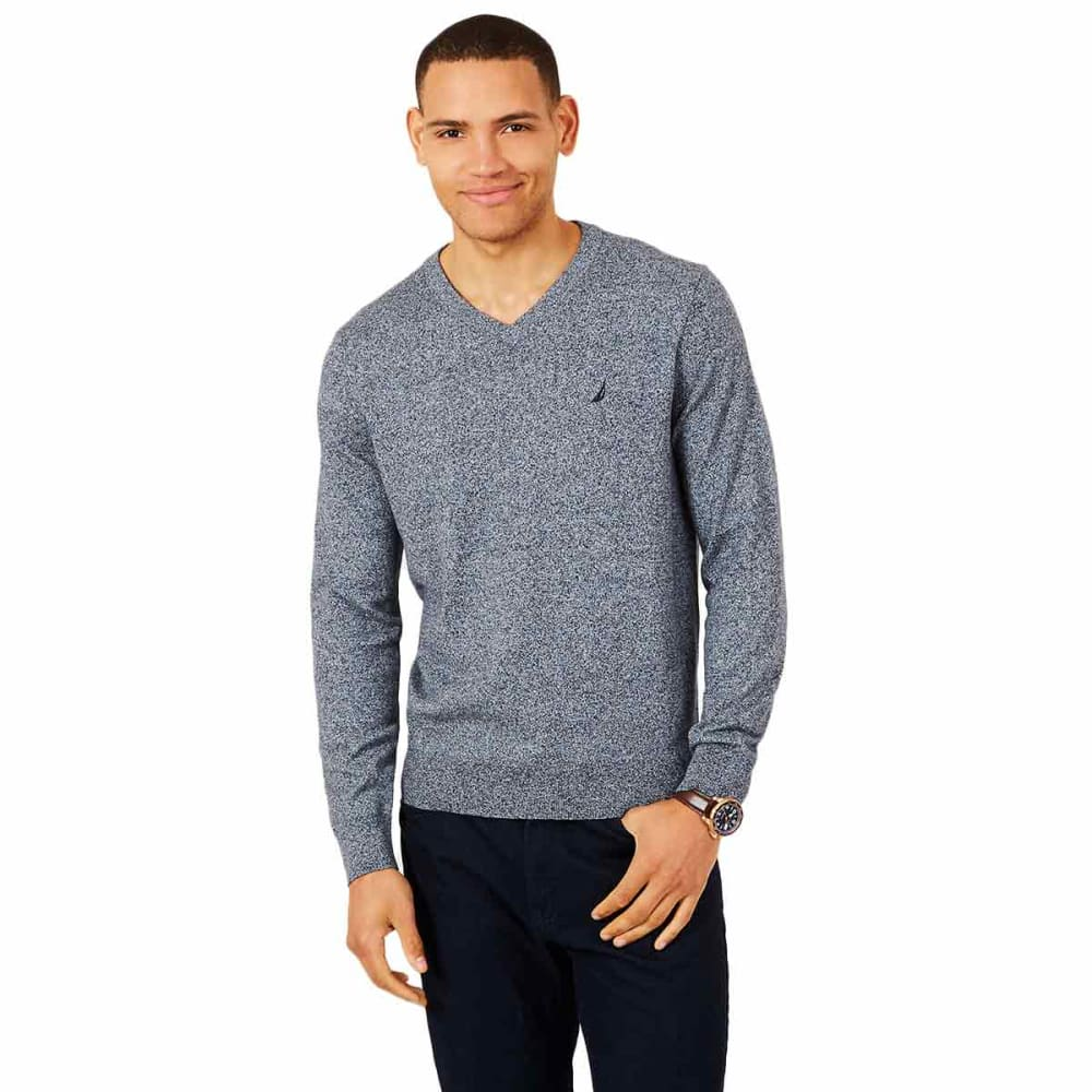 NAUTICA Men's Jersey Navtech V-Neck Sweater - 4ES - ESTATE BLUE