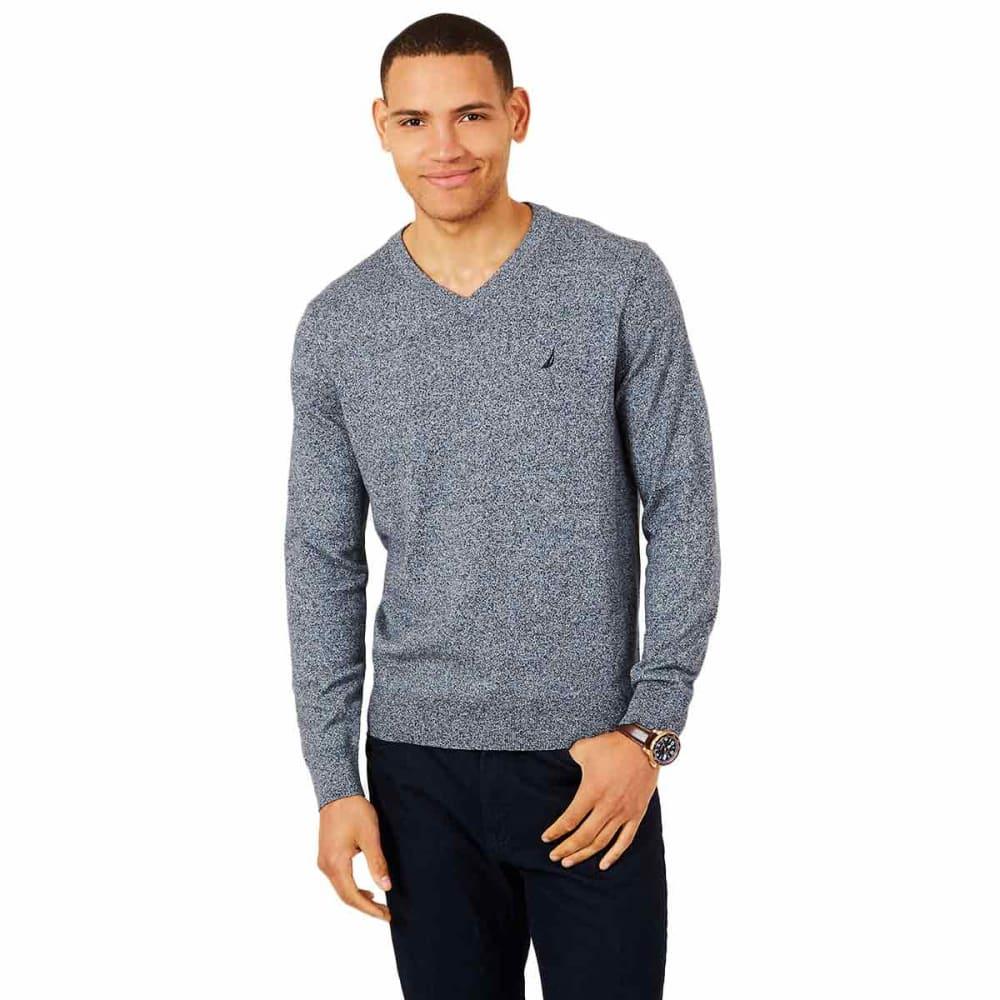NAUTICA Men's Jersey Navtech V-Neck Sweater - 4ES - ESTATE BLUE