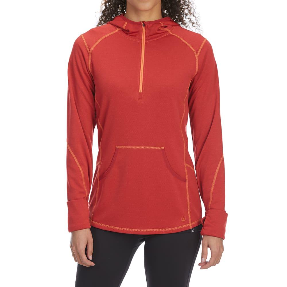 Ems Women's Techwick Dual Thermo Ii Half Zip Pullover Hoodie - Orange, XS