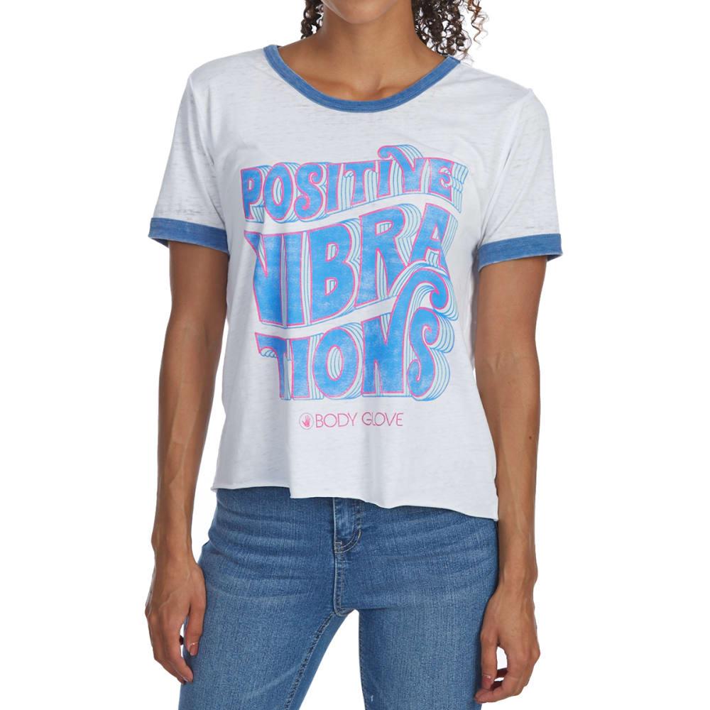 BODY GLOVE Juniors' Positive Vibrations Ringer Short-Sleeve Tee M