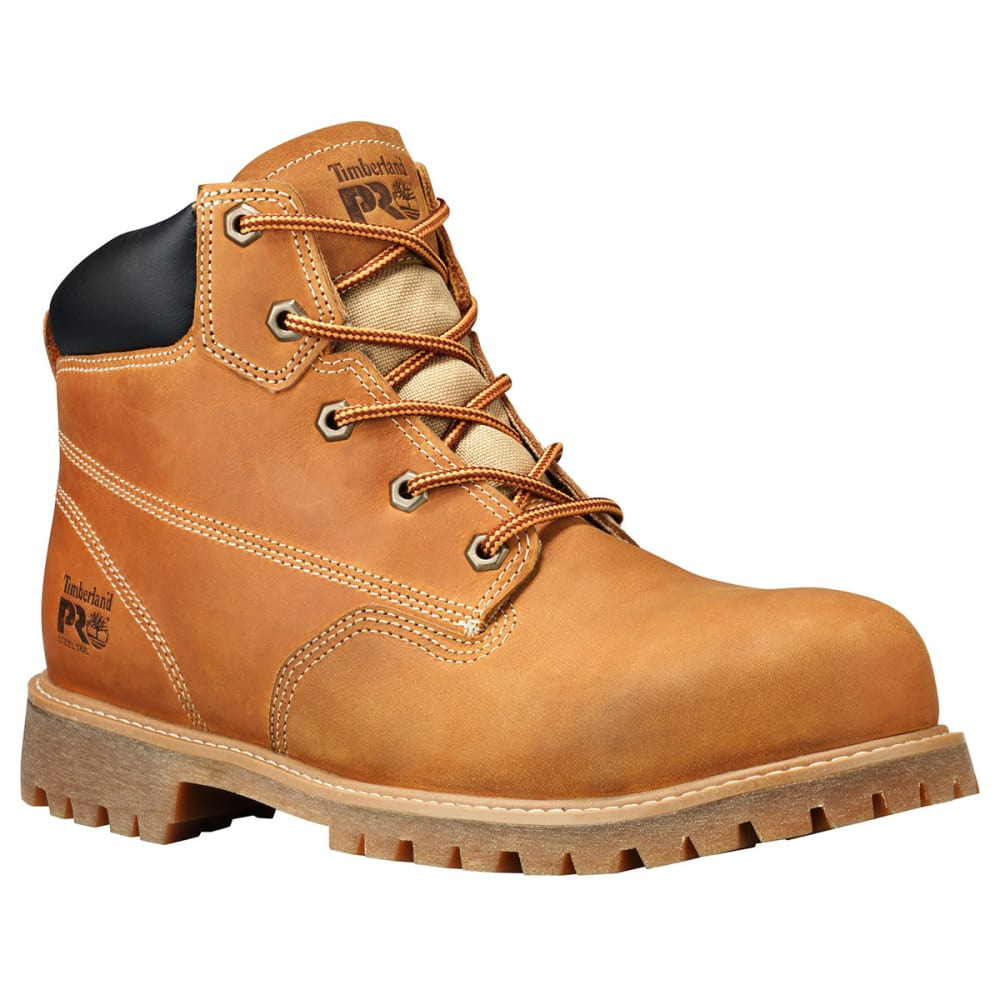 Timberland Pro Men's 6 In. Gritstone Steel Toe Work Boots - Brown, 8.5
