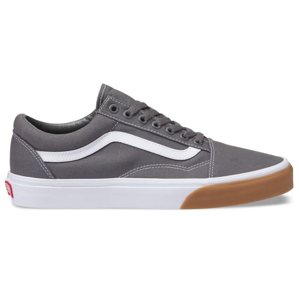 VANS Men's Old Skool Gum Bumper Skate Shoes - PEWTER/TRUE WHITE