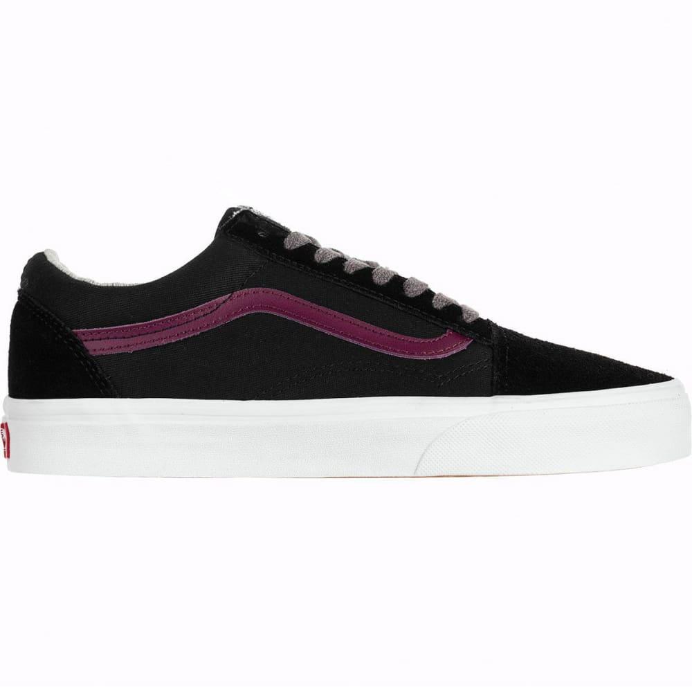 VANS Men's Old Skool Jersey Lace Skate Shoes - BLACK/PORT ROYALE