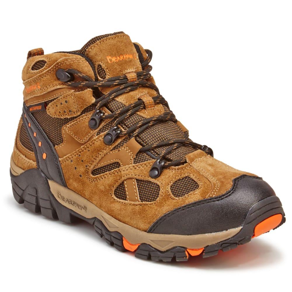 BEARPAW Men's Brock Mid Waterproof Hiking Boots - HICKORY