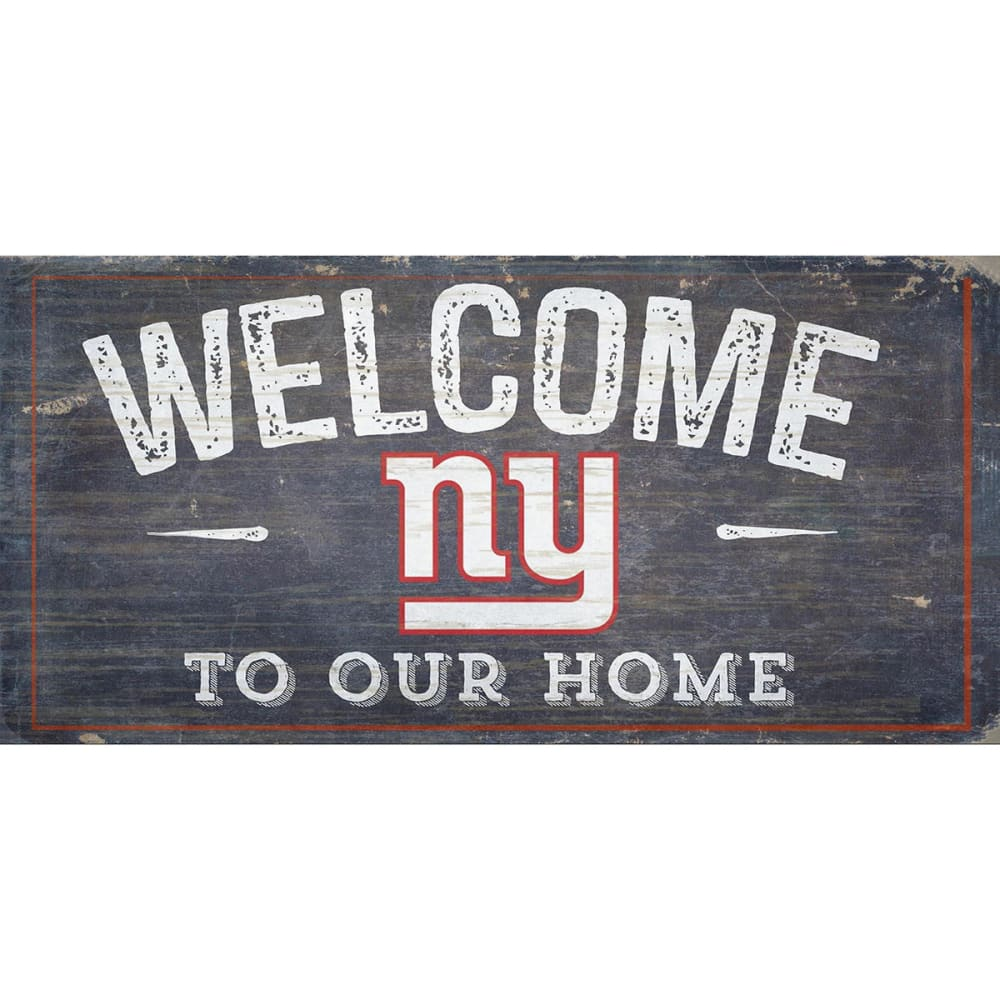 NEW YORK GIANTS 6 x 12 in. Welcome to Our Home Sign - ROYAL BLUE