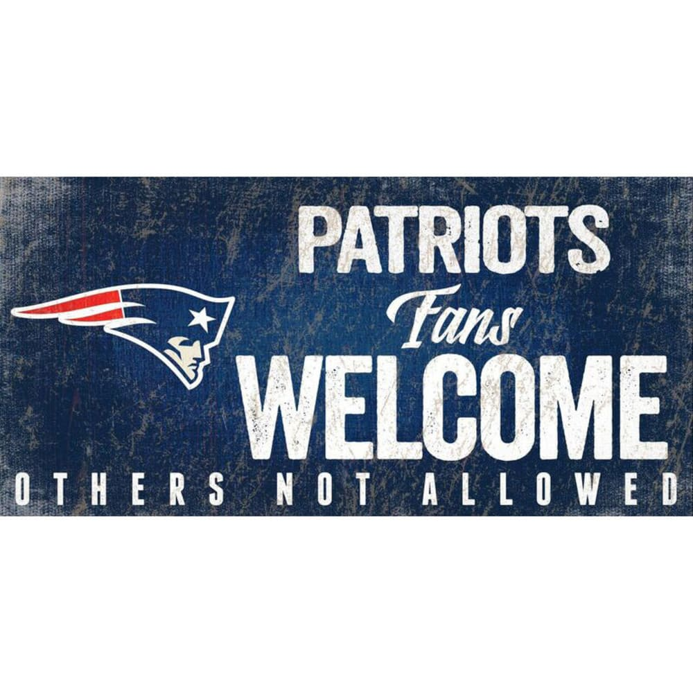 NEW ENGLAND PATRIOTS 6 x 12 in. Welcome Sign - NAVY