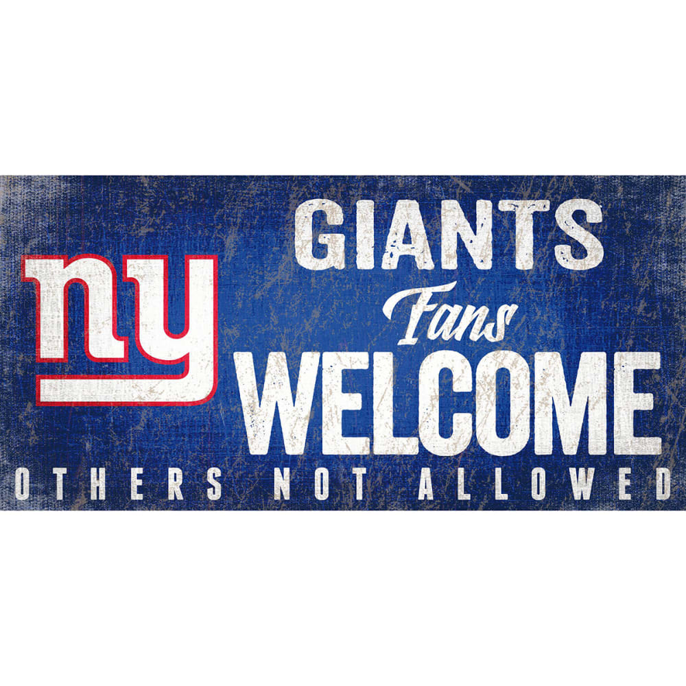 NEW YORK GIANTS 6 x 12 in. Welcome Sign - ROYAL BLUE