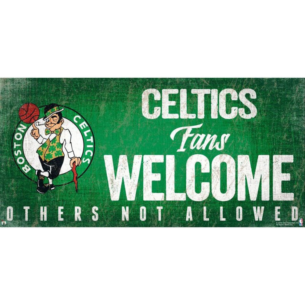 BOSTON CELTICS 6 x 12 in. Welcome Sign - KELLY
