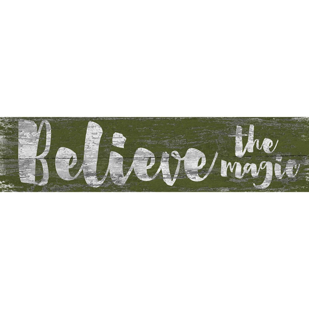 FAN CREATIONS 6 x 24 in. Believe the Magic Holiday Sign - NO COLOR