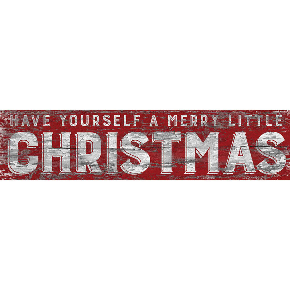 FAN CREATIONS 6 x 24 in. Merry Little Christmas Sign - NO COLOR