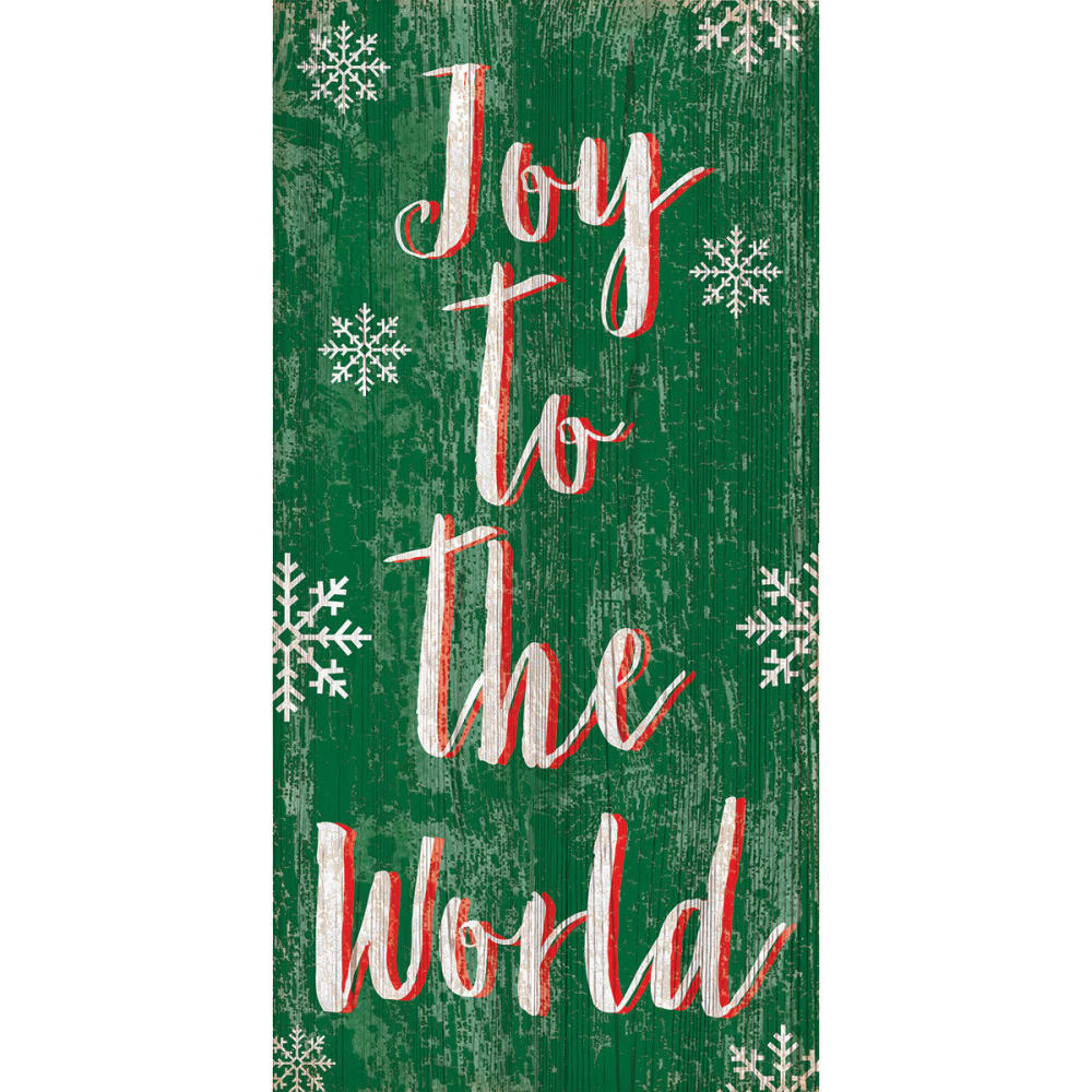 FAN CREATIONS 5 x 10 in. Joy to the World Vertical Holiday Sign - NO COLOR