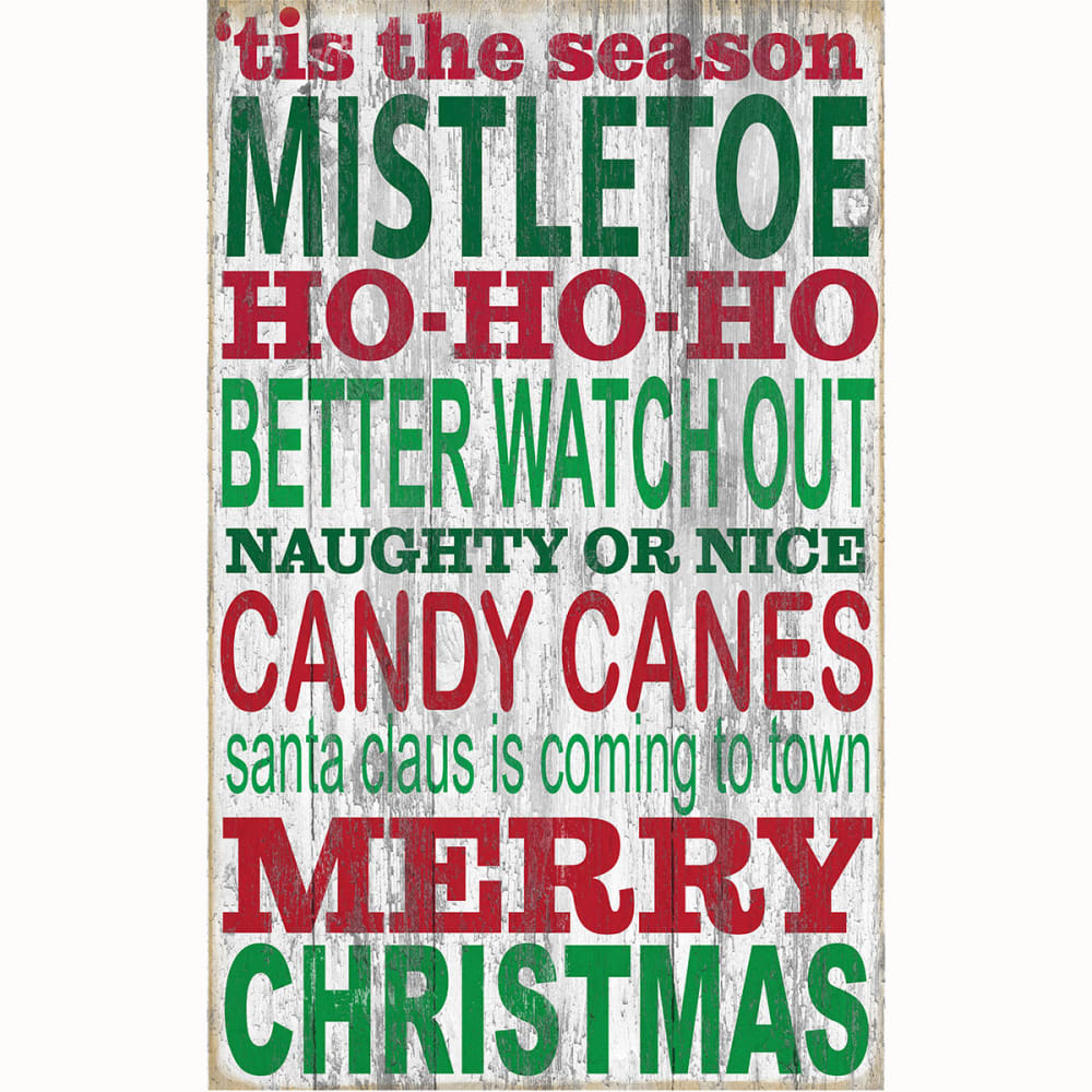 FAN CREATIONS 11 x 19 in. 'Tis The Season Holiday Sign - NO COLOR