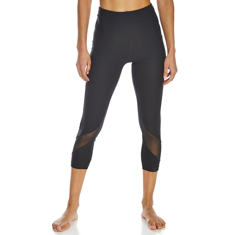 MARIKA Women's Inspire Mid-Calf Capri Leggings - BLACK
